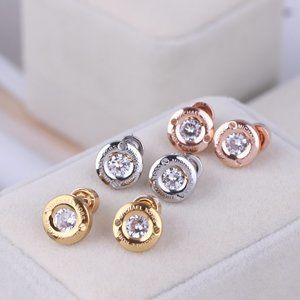 Michael Kors Classic Zircon Round Stud Earrings
